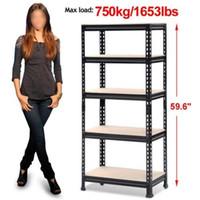 adjustable steel shelving - Heavy Duty Shelf Garage Steel Metal Storage Level Adjustable Shelves Rack NEW