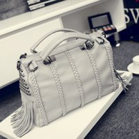 Wholesale New Arrival Fashion Shoulder Bags for Women PU Leather Handbag Boston Bags Rivet Crossbody Bags Zipper Closure Tote Bags