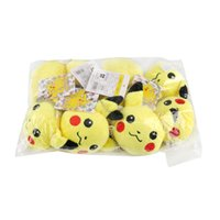 Wholesale Poke Plush Keychain Pikachu Plush Keychain Pendants cm Poke Plush Toys With Ring Cute Cartoon Poke Doll Stuffed Plush Toy
