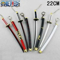 Wholesale Hot Pop Anime Weapon One Piece Roronoa Zoro Metal Katana Sword cm Weapon Figure Pendant Collectibles