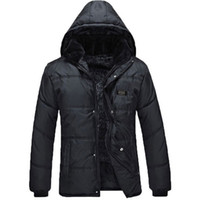 Wholesale Fall Winter coat thickening middle aged and old winter coats men coat black XL AND XL