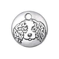 antique memorial jewelry - mm Antique Silver Tone Tiny Cavalier King Charles Spaniel Charm Dog Memorial Jewelry Remembrance Pendant jewelry ma