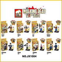Wholesale 8pcs The Walking Dead Action Figure Minifigures JX1004 JX1005 Building Blocks Model Educational Toys For Children