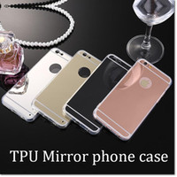 Wholesale hot selling back cover iphone cellphone case ultrathin soft tpu mirror case Electroplating Chrome phone case for iphone iphone plus