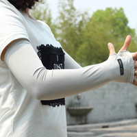 Wholesale Uv Protection Clothing Outdoor Sport Arm Warmers Sleeves Outdoor Sun Cycling Gloves Big Arm Sleeve YS0084