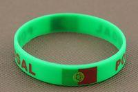 australia silicone bracelets - Explosion models Olympic flag silicone wristband Spain flag bracelet Mexico flag bracelet Australia Italy Chile Ghana