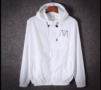 Wholesale RIPNDIP Jacket Men Women summer Spring Cartoon Cat Hip Hop Thrasher Rip n Dip RIPNDIP Skateboard Windbreaker Sunscreen Softshell