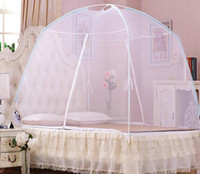 Wholesale 2016 New Fine Mesh Mosquito Net Easy Install Foldable Portable Mosquito Net Bed Zika Proof Tent