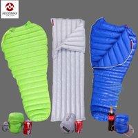 Wholesale Aegismax Outdoor Camping Ultralight Mummy FP Goose Down Sleeping Bag Spring Autumn Winter Tent Light weight Sleeping Bags