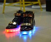 Wholesale 2016 New New men Women LED Light Shoes USB Rechargeble Luminous Woman Shoes led men USB shoes light up sneaker D145