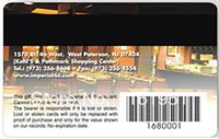 barcode cards - color printing plastic gift card with barcode