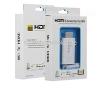 Wholesale White Wii to HDMI Converter Wii2HDMI Adapter Support FullHD p mm Audio Video Output For Wii Link Monitor TV PC