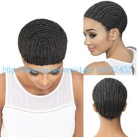 Wholesale cornrow express straight black cap cornrow express cap for braided cap synthetic wigs