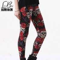 best milk brand - Miss Best Quality Hot Sell Cheap Fashion Sexy Brands Women s Thin European American Star Black Rose Skull Milk Silk Legging