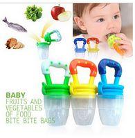 baby food juice - Baby Fresh Food Feeder Nipple Pacifier Nibbler Bottle Rattles Feeder Feeding Fresh Fruit Juice Shake chupeta para Baby pacifiers Feeder