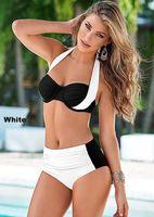 Cheap 2016 New Women Sexy Bikini Split Two-pieces Bikini swimsuits Plus size Swimwear High waist Mixed Colors Cross Swim suits Free Shipping~XL101