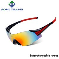 Wholesale Soul Travel Multi Color Cycling Eyewear Sun Glasses Outdoor Sports Bicycle Bike Sunglasses Goggles Cycle Unisex Without Frame Hot