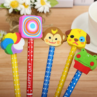 Wholesale New Fashion Cartoon Pencil Creative Students Stationery Prize Children Christmas Small Gifts Pencils