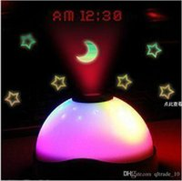 Wholesale 2015 Starry star projection alarm clocks promotional creative gift Lcd Digital Reusable Circular electronic Colorful clocks TOPB3089