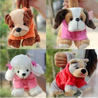 baby toy poodle - Plush toy little bag pc cm cartoon cute shari pie poodle schnauzer dog zero case stuffed toy creative gift for baby