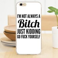 beach quotes - I m Not Always A Beach Just Kidding Funny Quote Soft Case for iPhone S S SE C Plus Cover