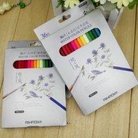 Wholesale 36PCS hobby water color pencils color green color pencil drawing pen box