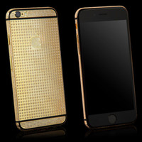 aluminum case parts - New Mirror K Gold Limited Edition Back Cover Aluminum Crystals Metal Case New Replacement Part Luxury Housing for iPhone Plus