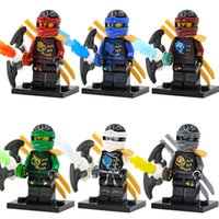 Wholesale Decool Super Hero Ninja Minifigures Zane Cole Nya Lloyd Building Blocks Sets Model Figure Toys For Children