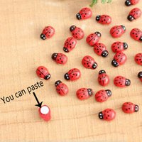 Wholesale 10 Ladybird Ladybug Sticker Children Kids Painted Adhesive Back Craft Home Party Decorations