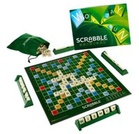 Wholesale New Hot Scrabble Original Board Game Funny Family NEW FREE ST CLASS Blocks Wooden Block Dominoes Blocks XMAS Gift Free Ship