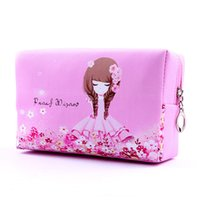 big pillow cases - New Big Size Women Make Up Bags Flower Floral PU Zipper Cosmetic Case Simple Casual Girl Lady Pouch Storage Travel Organizer