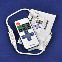 Wholesale Mini Dimmer RF Wireless Remote Controller DC V V A for LED Single Color Light Strip