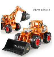 Wholesale Farmer series inertia car truck excavator road machine child kids plastic toy truck toys for boy engineering diecast tools car model