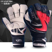 baseball goals - Professional gloves with finger guard the goal of genuine football goalkeeper latex gloves A8