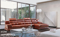 Wholesale GENIUINE LEATHER SOFA RED FASION MODERM LUXURY STYLE LIVING ROOM SIMPLE FURNITURE GOOD QUALITY R AY29