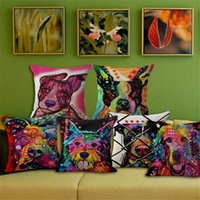 best priced sofas - Best Price Colorful Animal Graffiti Dog Pillowcase Cushion Sofa Decoration Gift Birthday Bedding Outdoor Chair Home