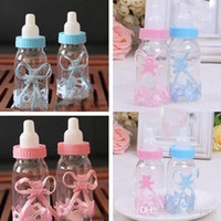 Wholesale 12X Baby Shower Baptism Christening Birthday Gift Party Favors Candy Box Bottle