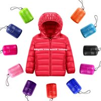 Wholesale DHL autumn winter new children down jackets coats light thin soft baby down jacket for boys girls unsiex Outwear hot