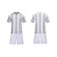 Cheap Kids Sportswear Running sets football soccer team kits boys Breathable Moisture Wicking Quick dry Short sleeve jersey shorts vertical bar