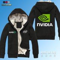 amd logo - GPU Graphics Nvidia LOGO Print sweatshirts AMD intel Nvidia Winter Thicken Warm solid Hoodies Gaming PC computer hoodies