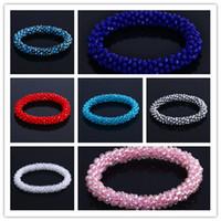 costume jewellery set - Black Facet Bead Stretch Bracelet Clear Crystal Stretch Design Costume Jewellery Rhinestone Crystal Wedding Chain Bracelets J903