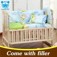 Wholesale 5PCS Set Newborn Baby Crib Bedding Set Baby Bedding Set Kids Crib Bumper Cartoon Animal Baby Cot Set x58cm CP01
