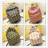 Wholesale 2016 Newest EMOJI QQ face smiling expression pattern backpacks Expression School bag Top Quality preppy Back style sport woman Men mochila