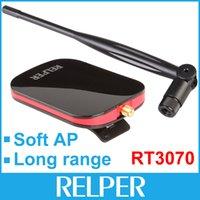 al por mayor antenas de alta ganancia wifi usb-150Mbps Ralink3070 Chipset de alta potencia 1000MW de largo alcance Wireless-N Wifi adaptador de red con antenas de alto rendimiento