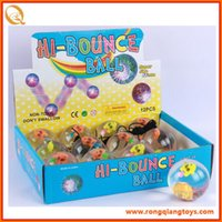 Wholesale Flash bouncing ball CM led bounce elastic ball best gift for kids with cute small fish