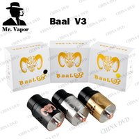 Baal V3 RDA Vaporisateur reconstructible Dripping atomiseur Copper Center Poster Airflow commande avec Large Bore Drip Tips Fit 510 E Cigs Vape Mods