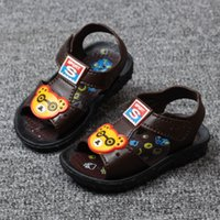 Wholesale Summer Baby Sandals Shoes Boys Casual Shoes Anti skid Soft Sole Sandals Clogs Kid Children Cartoon First Walkers