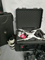 Wholesale DJI phantom standard protective suitcase ABS case Especially custom for DJI waterproof with trolldy and wheels tool case