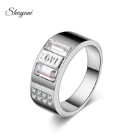 Wholesale SHUYANI Jewelry Brand Design mm Width Gold Silver Rings For Woman Men Crystal Jewelry Carter love Rings