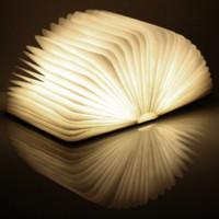 art lighting battery operated - LED Rechargeable Folding Book night Lights W Battery Operated Changeable Shape Table desk Lamp Novelty Decorative USB Lamp